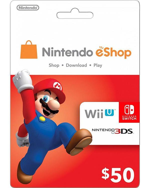 Nintendo eShop Gift Card $50 ( Digital codes )