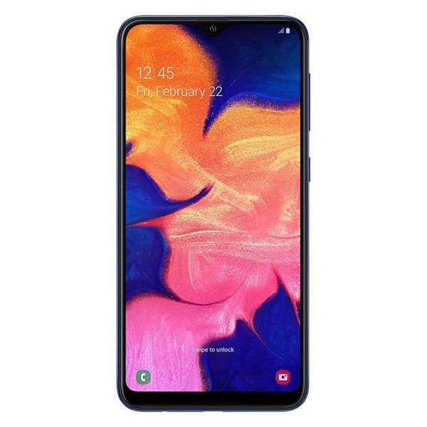 Samsung موبايل جالاكسي A10 - ثنائى الشريحة - 6.2 بوصة - 32 جيجا - 4G - أزرق