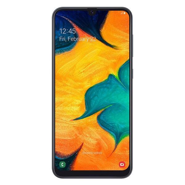 Samsung A30 جلاكسي موبايل ثنائي الشريحة - 6.4 بوصة - 64G - 4G جيجا بايت - أسود